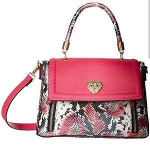 Nwt Betsey Johnson leopard print satchel